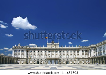 Palacio Real - Spanish Royal palace in Madrid.