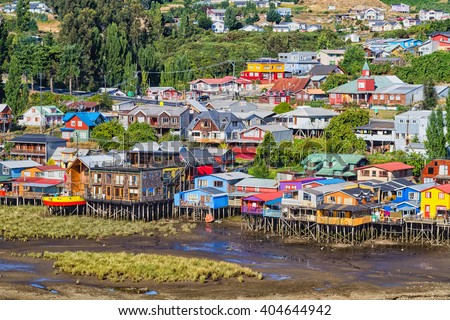 Shutterstock Palafito houses on stilts in Castro, Chiloe Island, Patagonia, Chile