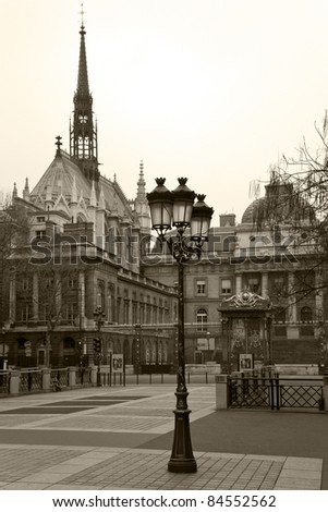 Palais de Justice (Palace of Justice) in Paris. France. - stock photo