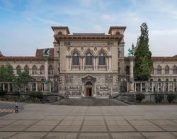 Palais de Rumine at Place de la Riponne - Lausanne, Switzerland
