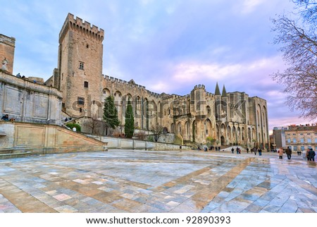 Palais des Papes - Palace of the Popes - in Avignon, France