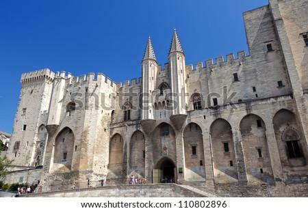 Palais of the Popes at Avigion, France.