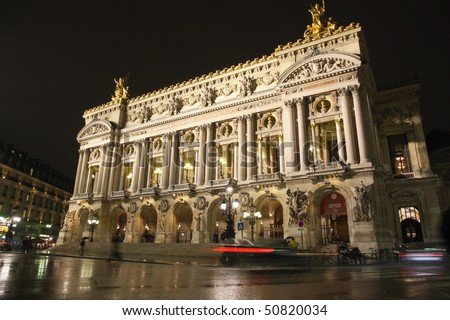 Palais or Opera Garnier & The National Academy of Music in Paris, France