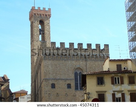 "Palazzo del Bargello in Florence - view from via del Proconsolo (in front of the Court of Justice ""Complesso di San Firenze"")"