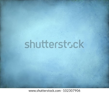 pale abstract blue background with yellow center and soft pastel vintage grunge background texture design on border, light blue paper page, old background announcement or invitation