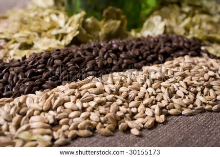 Pale malt, crystal malt, chocolate malt, wheat malt and aromatic hops.