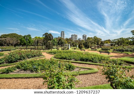 Palermo Park in Argentina, green recreation area