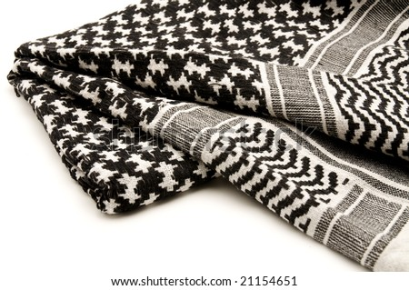 Palestinian Keffiyeh on a white background