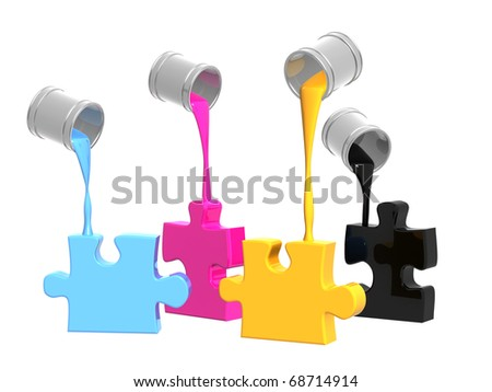 Palette CMYK. Objects over white