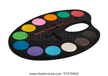 palette of colors isolated on white