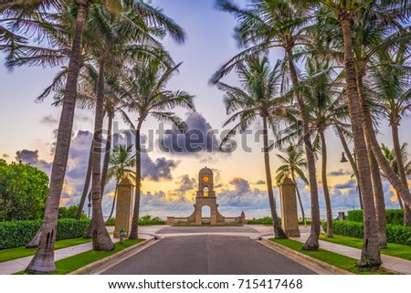Shutterstock Palm Beach, Florida, USA clock tower on Worth Ave.