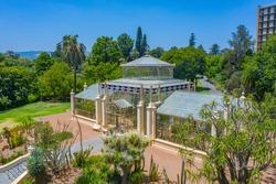 Palm house at botanic garden in adelaide, Australia
