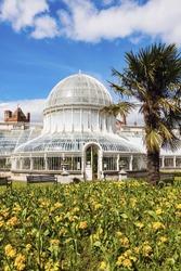 Palm House in Belfast. Belfast, Northern Ireland, United Kingdom.