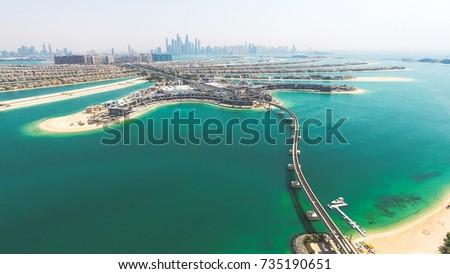 Palm Jumeirah aerial shot #735190651