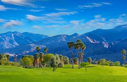 Palm Springs, a city in the Sonoran Desert of southern California, is known for its hot springs, stylish hotels, and spas. Palm trees and green belts are found all over this dramatic city.