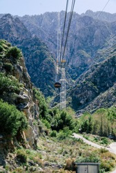 Palm Springs Aerial Tramway and Mountain in the background