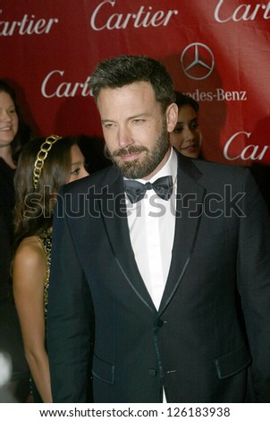 PALM SPRINGS, CA - JAN 5: Ben Affleck arrives at the 2013 Palm Springs International Film Festival's Awards Gala at the Palm Springs Convention Center on Saturday, January 5, 2013 in Palm Springs, CA.