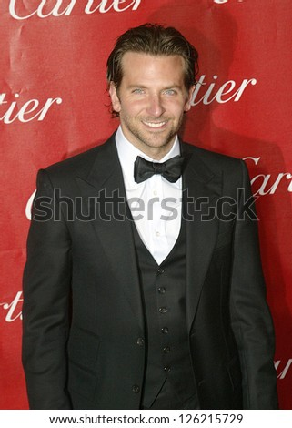 PALM SPRINGS, CA - JAN 5: Bradley Cooper arrives at the 2013 Palm Springs International Film Festival's Awards Gala at the Palm Springs Convention Center on January 5, 2013 in Palm Springs, CA.