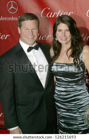 PALM SPRINGS, CA - JAN 5: Former Congresswoman Mary Bono Mack and guest arrive at the 2013 Palm Springs International Film Festival's Awards Gala on January 5, 2013 in Palm Springs, CA.