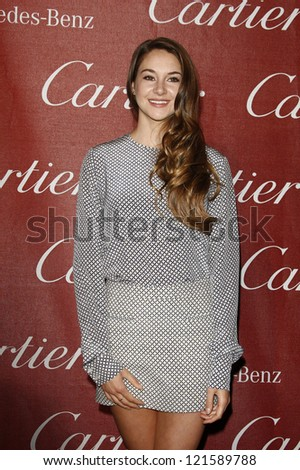 PALM SPRINGS, CA - JAN 7: Shailene Woodley at the 23rd Annual Palm Springs International Film Festival Awards Gala at the Palm Springs Convention Center on January 7, 2012 in Palm Springs, California
