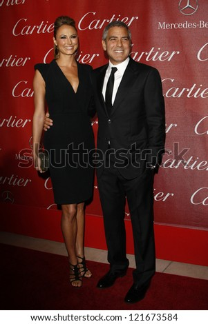 PALM SPRINGS, CA - JAN 7: Stacy Keibler; George Clooney at the 23rd Palm Springs International Film Festival Awards Gala at the Palm Springs Convention Center on January 7, 2012 in Palm Springs, CA