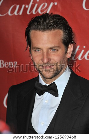 PALM SPRINGS, CA - JANUARY 5, 2013: Bradley Cooper at the Awards Gala for the 2013 Palm Springs International Film Festival.