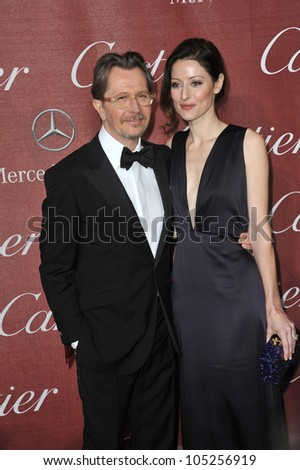 PALM SPRINGS, CA - JANUARY 7, 2012: Gary Oldman & Alexandra Edenborough at the 2012 Palm Springs Film Festival Awards Gala at the Palm Springs Convention Centre. January 7, 2012  Palm Springs, CA