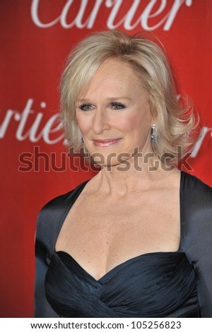 PALM SPRINGS, CA - JANUARY 7, 2012: Glenn Close at the 2012 Palm Springs Film Festival Awards Gala at the Palm Springs Convention Centre. January 7, 2012  Palm Springs, CA
