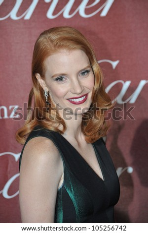 PALM SPRINGS, CA - JANUARY 7, 2012: Jessica Chastain at the 2012 Palm Springs Film Festival Awards Gala at the Palm Springs Convention Centre. January 7, 2012  Palm Springs, CA