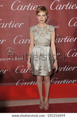 PALM SPRINGS, CA - JANUARY 7, 2012: Michelle Williams at the 2012 Palm Springs Film Festival Awards Gala at the Palm Springs Convention Centre. January 7, 2012  Palm Springs, CA