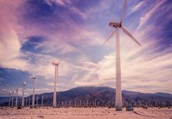 Palm Springs,California wind turbines