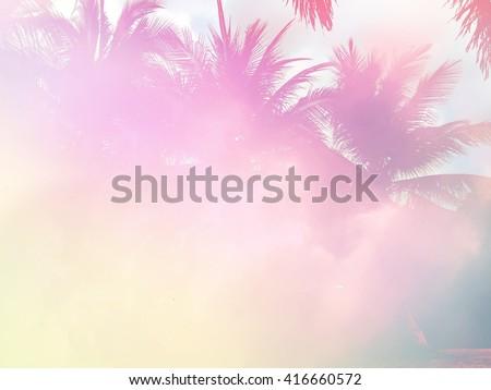 Palm tree pastel tone #416660572