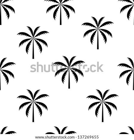 Palm tree seamless pattern  illustration