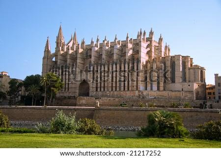 Palma cathedral - stock photo