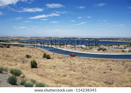 Palmdale, California USA / Antelope Valley - Palmdale in Summer. Panoramic Photography. Cities Photo Collection.