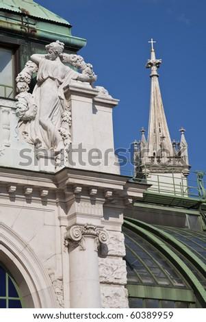 Palmenhaus (Palm House)Facade Details,  Vienna, Austria