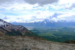 Palmer Alaska. Over Looking Palmer Mountains. Panos. Rivers.