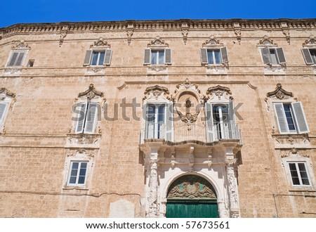 Palmieri Palace. Monopoli. Apulia.