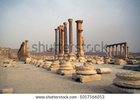 Palmyra, Syria, the pearl of the ancient architecture which. queen Zenobia Stockfoto ©