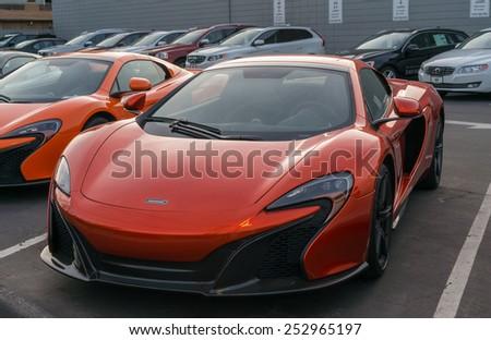 palo alto, ca/usa - february 15: mclaren car on display on feb 15