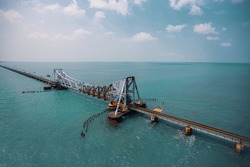 Pamban bridge - India's first and longest sea bridge
