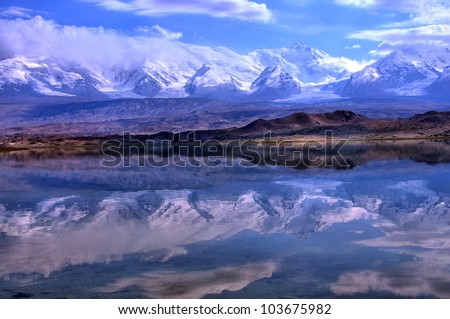 Karakul Lake Pamir on Karakul Lake