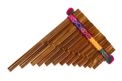 Pan Flute Isolated On White Background