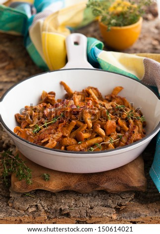 Pan-Roasted Mushrooms - stock photo