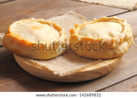 Panades, traditional meat pies from Majorca, empanadas