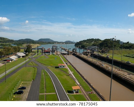 Panama canal - stock photo