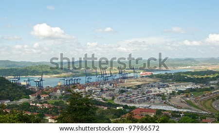 Panama canal view from Ancon hill