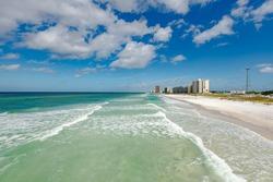 Panama City Beach Florida cloud scape, water shoreline