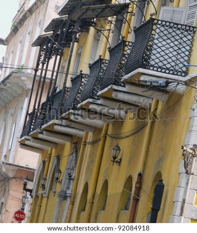 Panama City, Casco Antiguo, UNESCO heritage old quarter - with its colorful narrow colonial streets and picturesque iron cast verandas, this is the bohemian part of the city.