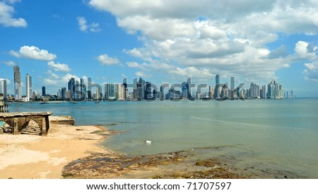 Panama City landscape - stock photo